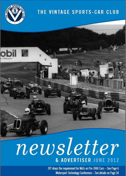 VSCC Newsletter cover