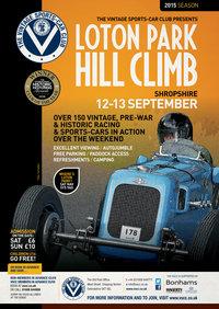 VSCC Loton Park Hill Climb 2015 FLYER