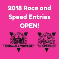 2018 Race and Speed EntriesOPEN!
