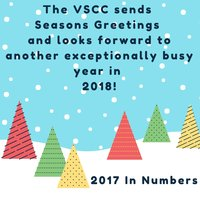 The VSCC sends Seasons Greetings and looks forward to another exceptionally busy year in 2018!