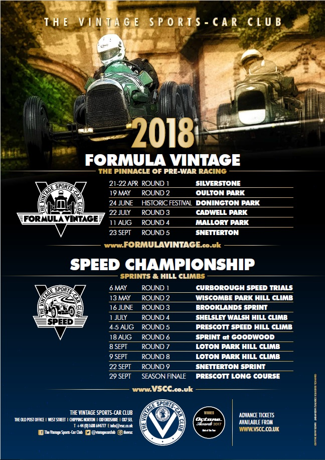 Entries Opening for 2018 Formula Vintage & Speed Championship cover