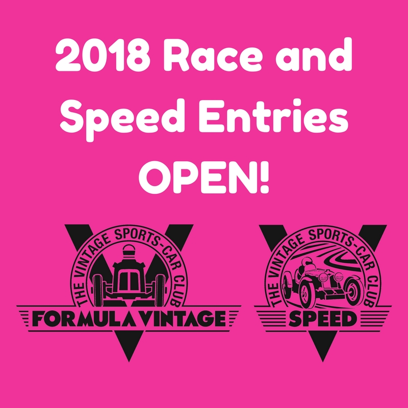 Formula Vintage and Speed Championship Entries Now Open! cover