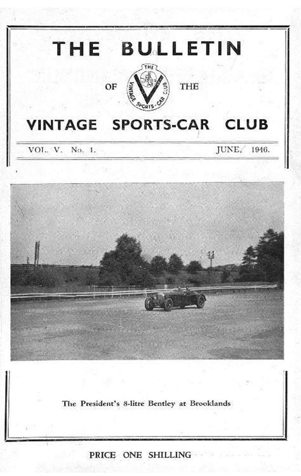 Bagshot-The Opening Rally Sept. 1945. Elstree Speed Trials. Pomeroy Trophy cover