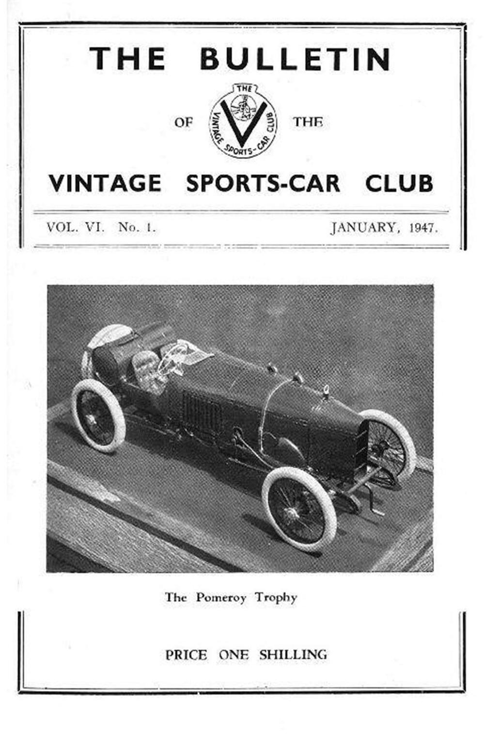 Pomeroy Trophy.   Bisley - November 24th.    1922 G.P. ASton Martin cover