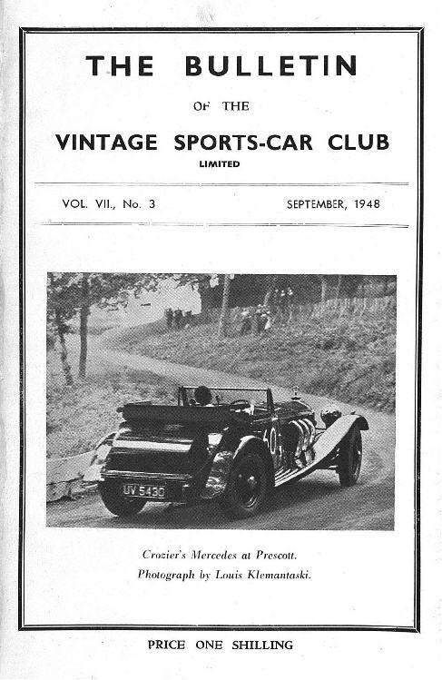 Brighton Speed Trials,  Madresfield, Vintage Prescott cover