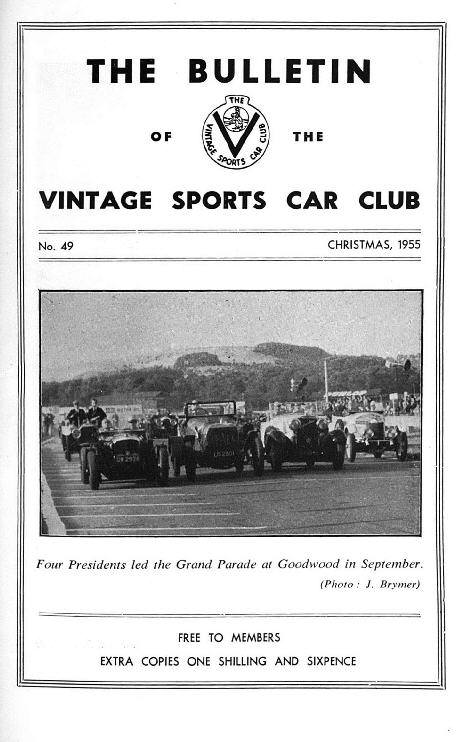 Welsh Rally from a Ballot, 1955 Motor Show, How to remain Vintage though married. cover