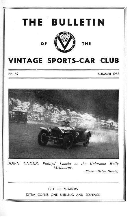 Vintage Rally in OZ, Silverstone, Thhame, Ulster Spring rally, Buxton cover