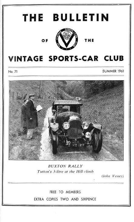 Ulster Spring Rally, How Not to Buy a Vintage Car, Cars I Have Owned, Buxton Rally cover