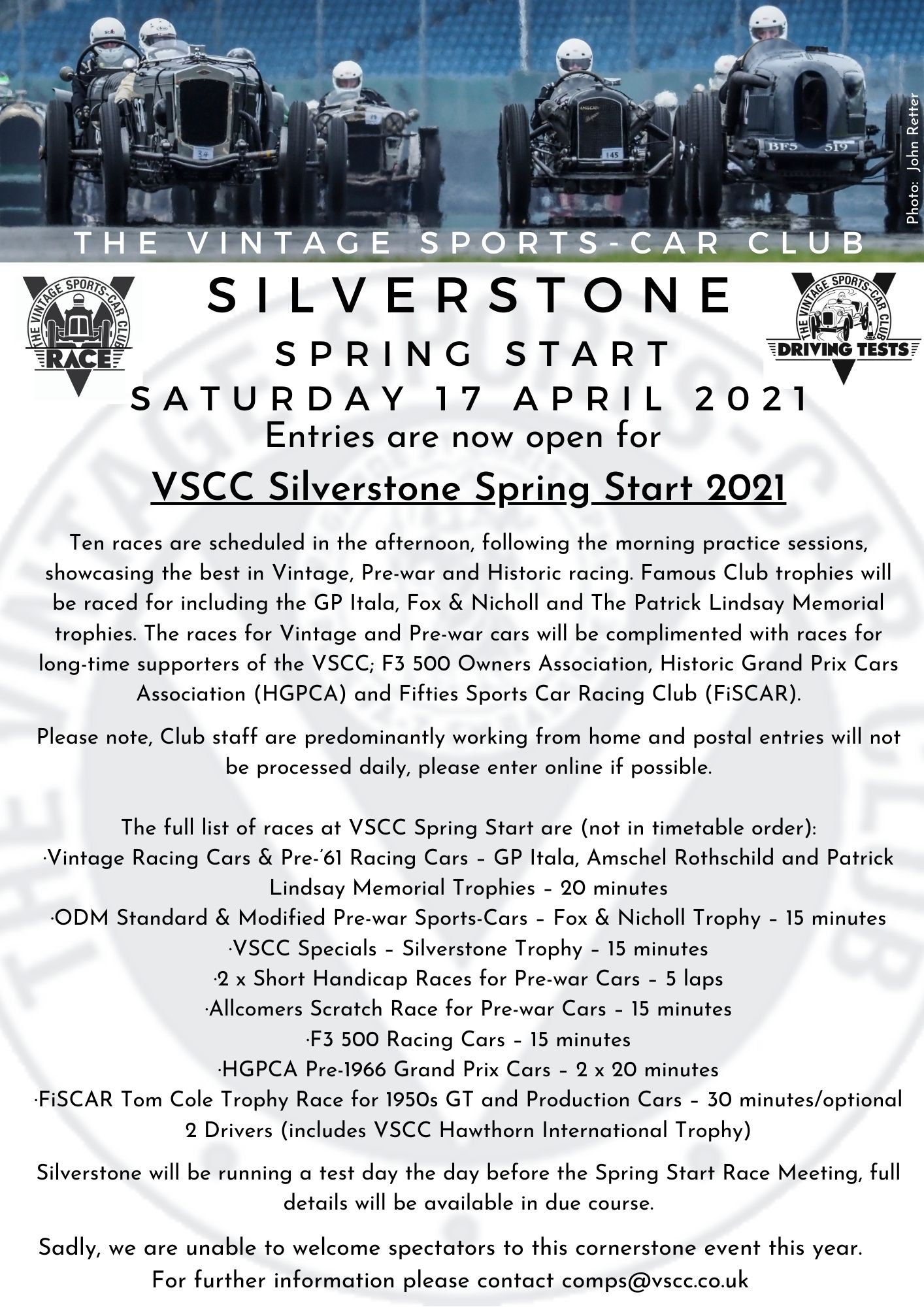 SILVERSTONE SPRING START - ENTRIES ARE OPEN cover