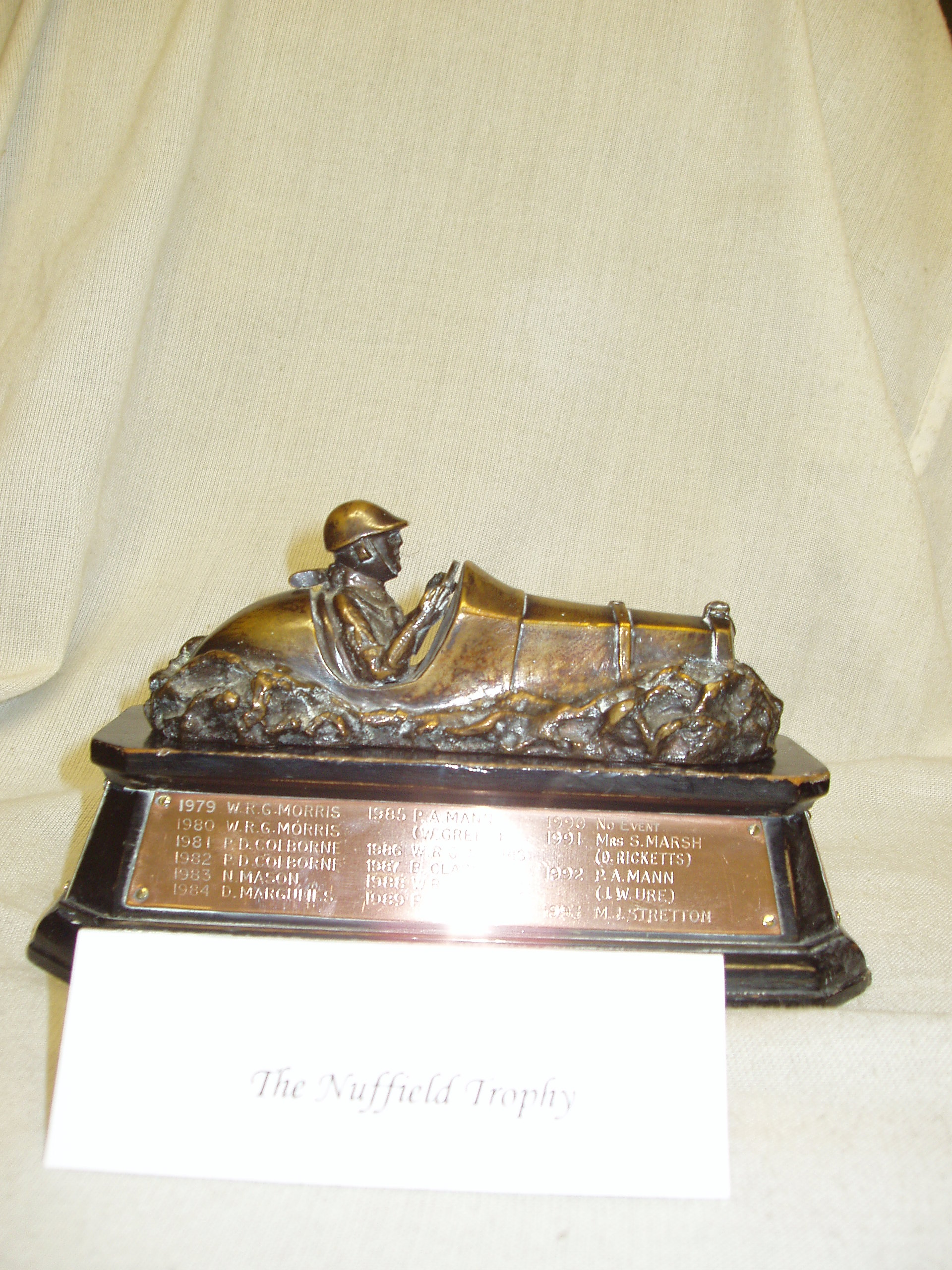 NUFFIELD TROPHY cover