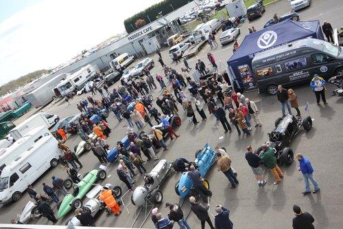 VSCC Silverstone April 14 672 ERA paddock preparation
