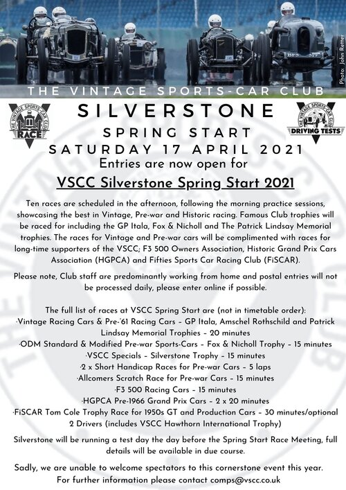 Silverstone Entries Open Email